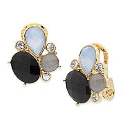 Anne Klein® Cluster Button Clip Earrings