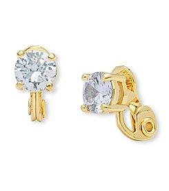 Anne Klein® Cubic Zirconia Clip Stud Earrings