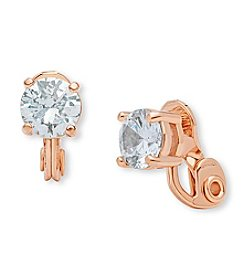 Anne Klein® Cubic Zirconia Clip Stud Earrings