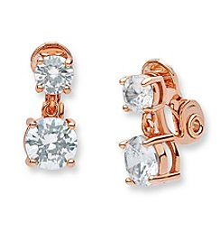Anne Klein® Cubic Zirconia Clip Drop Earrings