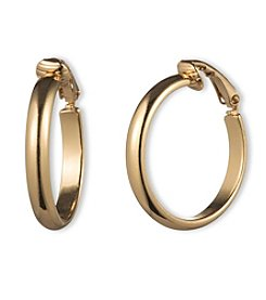 Gloria Vanderbilt™ Goldtone Clip Hoop Earrings