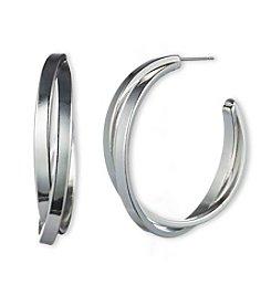 Gloria Vanderbilt™ C Hoop Earrings