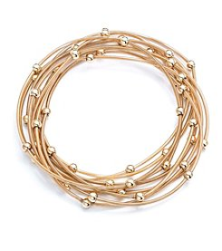 Gloria Vanderbilt™ Set Of 15 Flex Chain Ball Stretch Bracelet