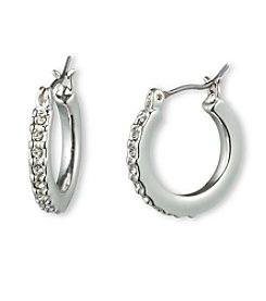 Gloria Vanderbilt™ Crystal Pave Small Hoop Earrings