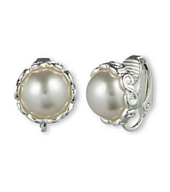Gloria Vanderbilt™ Pearl Clip Earrings