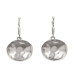 Gloria Vanderbilt™ Hammered Drop Earrings
