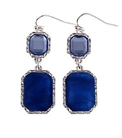 Gloria Vanderbilt™ Blue Double Drop Earrings