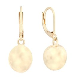 Gloria Vanderbilt™ Goldtone Hammered Drop Earrings
