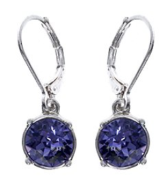 Gloria Vanderbilt™ Tanzanite Drop Earrings