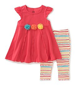 Kids Headquarters® Girls' 2T-6X 2-Piece Tunic Top and Leggings Set