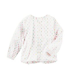 OshKosh B'Gosh® Girls' 2T-8 Dot Print Long Sleeve Top