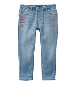 OshKosh B'Gosh® Girls' 2T-8 Embroidered Jeans