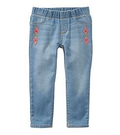 OshKosh B'Gosh® Girls' 2T-8 Embroidered Jeans