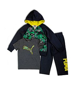 PUMA® Boys' 2T-4T 3-Piece Joggers Set