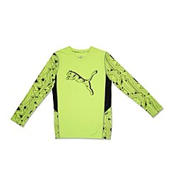 PUMA® Boys' 4-7 Cat Long Sleeve Tee