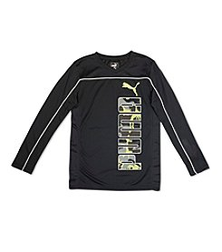 PUMA® Boys' 4-20 Piped Long Sleeve Tee