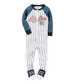 Carter's® Boys' 12M-4T Striped All Star Footie