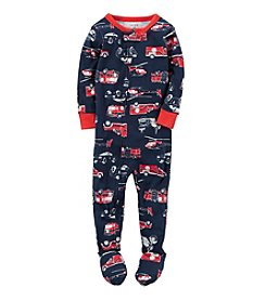 Carter's® Baby Boys' 12M-4T Striped Firetruck Sleeper