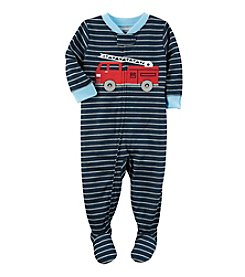 Carter's® Boys' 12M-4T Striped Firetruck Footie