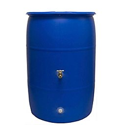 Good Ideas, Inc. Blue 55-gal. Rain Barrel