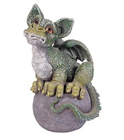 Kelkay Magic Green Dragon on Ball Statue