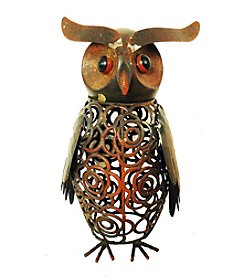 Kelkay Metal Art Wise Owl Statue