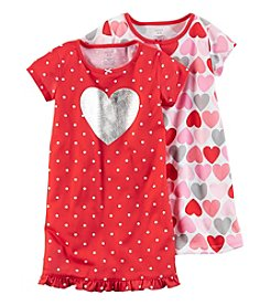 Carter's® Girls' 4-14 2-Pack Heart Printed Gowns