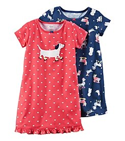Carter's® Girls' 4-14 2-Pack Dog Printed Gowns