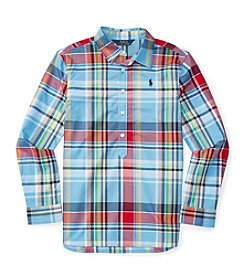 Polo Ralph Lauren® Girls' 7-16 Plaid Popover Shirt