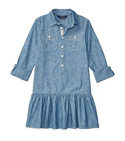 Polo Ralph Lauren® Girls' 7-16 Chambray Solid Dress