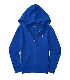 Polo Ralph Lauren® Girls' 7-16 Full-Zip Long Sleeve Hoodie