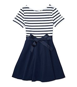 Polo Ralph Lauren® Girls' 7-16 Ponte Striped Dress
