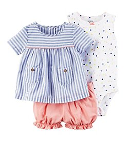 Carter's® Baby Girls' 3-Piece Striped Dot Set