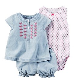 Carter's® Baby Girls' 3-Piece Chambray Set