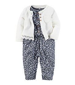 Carter's® Baby Girls' 2-Piece Jumpsuit And Cardigan Set
