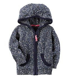 Carter's® Baby Girls' Zip Up Hooded Cardigan