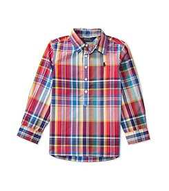 Polo Ralph Lauren® Girls' 2T-6X Poplin Plaid Polo