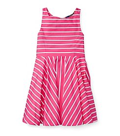 Polo Ralph Lauren® Girls' 2T-6X Striped Fit and Flare Dress