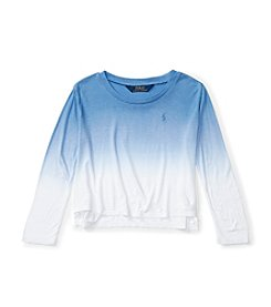 Polo Ralph Lauren® Girls' 2T-6X Ombre Drapey Top