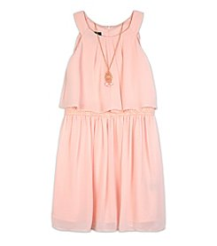 Amy Byer Girls' 7-16 Popover Elastic Waist Dress