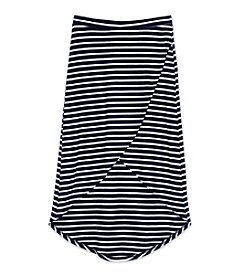 Amy Byer Girls' 7-16 Striped Tulip Hem Skirt