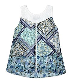 A. Byer Girls' 7-16 Bandana Cold Shoulder Top