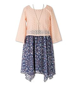Speechless® Girls' 7-16 Lace Popover Dress