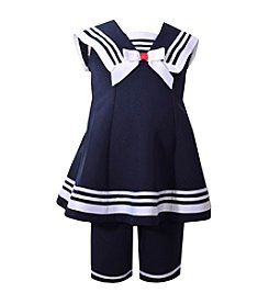 Bonnie Jean® Girls' 2T-6 Sailor Cap Sleeve Set