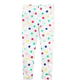 Carter's® Girls' 2T-8 Multi Dotted Leggings