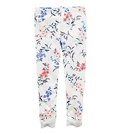 Carter's® Girls' 2T-8 Floral Leggings