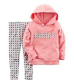 Carter's® Girls' 2T-4T 2-Piece Sweet Hoodie and Leggings Set