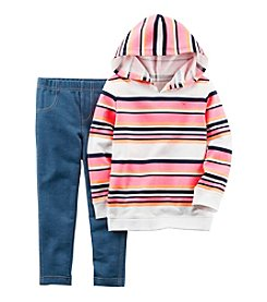 Carter's® Girls' 2T-4T 2-Piece Striped Hoodie and Jeggings Set