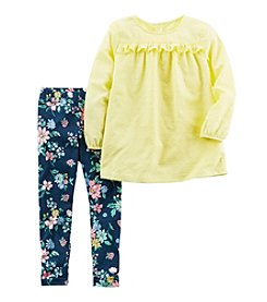 Carter's® Girls' 2T-4T 2-Piece Tunic Top and Floral Leggings Set