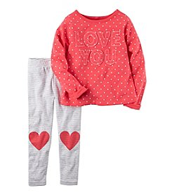 Carter's® Girls' 2T-4T 2-Piece Love You Top And Leggings Set